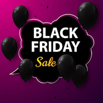 Black friday poster design vector illustration
