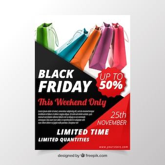 Black friday poster design with image