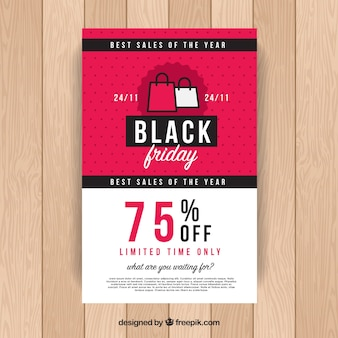 Black friday poster in pink and white