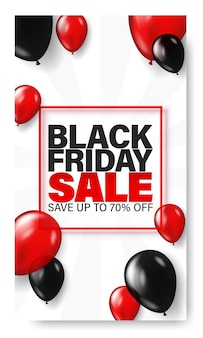 Black friday poster template for web.