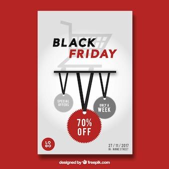 白い背景の黒い金曜日のポスター