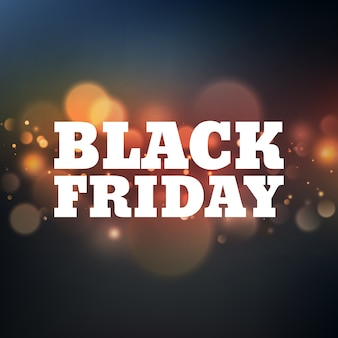 Black friday poster with bokeh.
