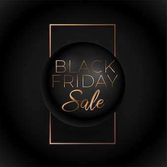 Black friday premium golden sale background