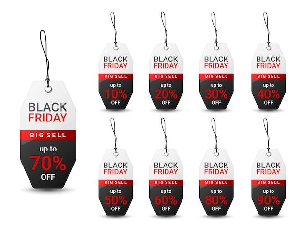 プロモーションのためのブラックフライデーの値札デザインテンプレート