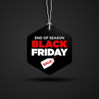 Black friday price tag design template for promotion
