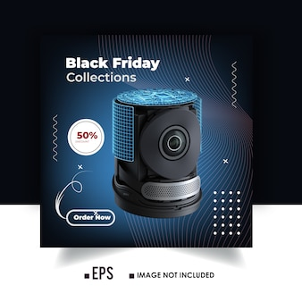 Black friday product collections instagram ads banner or social media post design