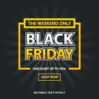 Black friday promo poster design template