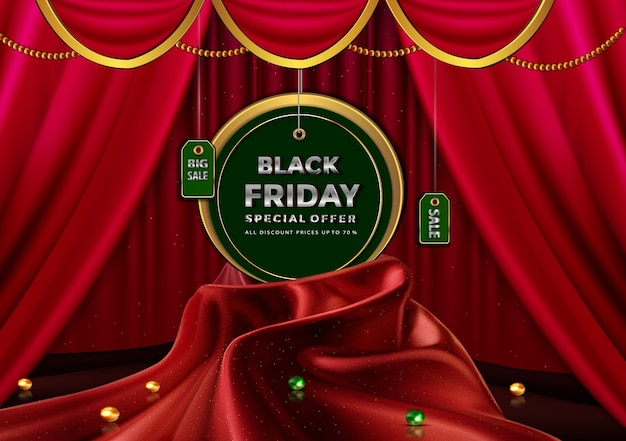 Black friday promotion greeting card with special offer all discount