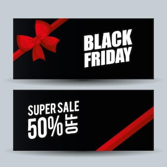 Black friday promotion label