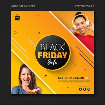 블랙 프라이데이 프로모션 판매 소셜 미디어 배너 템플릿