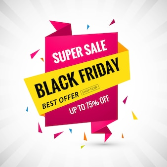 Black friday promotion sale