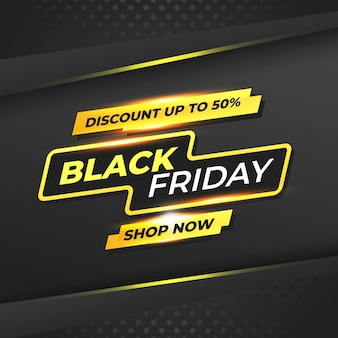 Black friday promotion yellow abstract concept