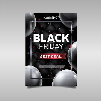 Black friday realistic best deal promo flyer