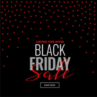 Black friday red dots background sale template