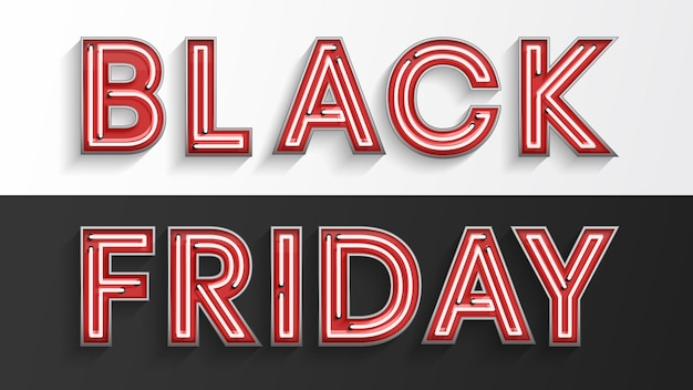 Black friday red neon