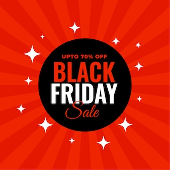 Black friday red sale background design