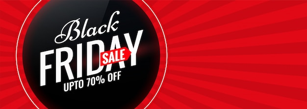 Black friday red sale banner with text space