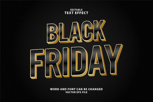 Черная пятница распродажа 3d редактируемый текстовый эффект