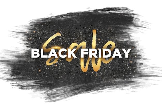 Black friday sale background with brush stroke background