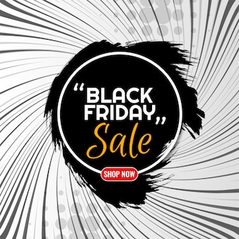 Black friday sale background with comic rays