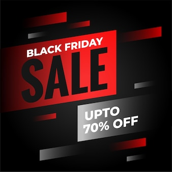 Black friday sale background with offer details