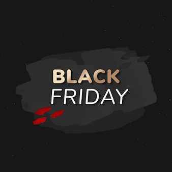 Adesivo distintivo di vendita del black friday, struttura della vernice, vettore di immagine dello shopping