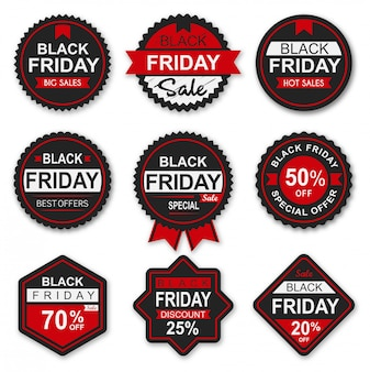 Black friday sale badges and labels collection
