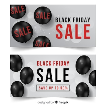 Black friday sale balloons banner