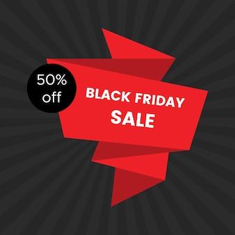 Black friday sale banner on black background. vector illustration.