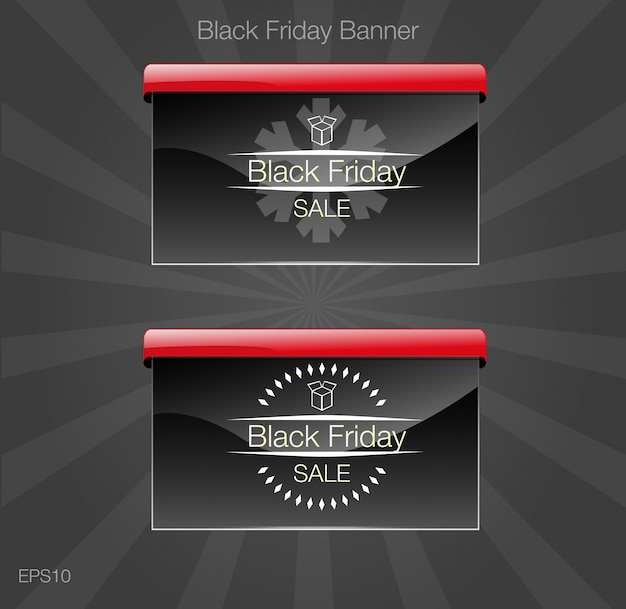 Black friday sale. banner black style card.