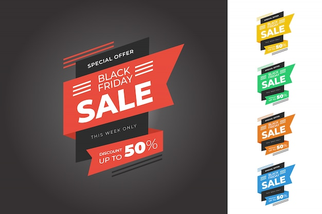 Black friday sale banner bundle template