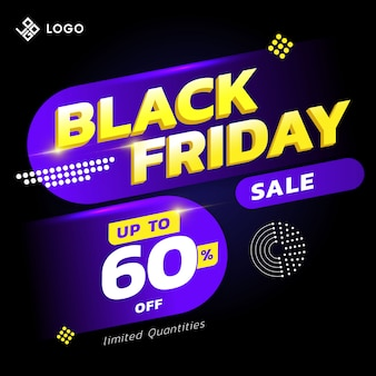 Black friday sale banner concept with cool  design style
