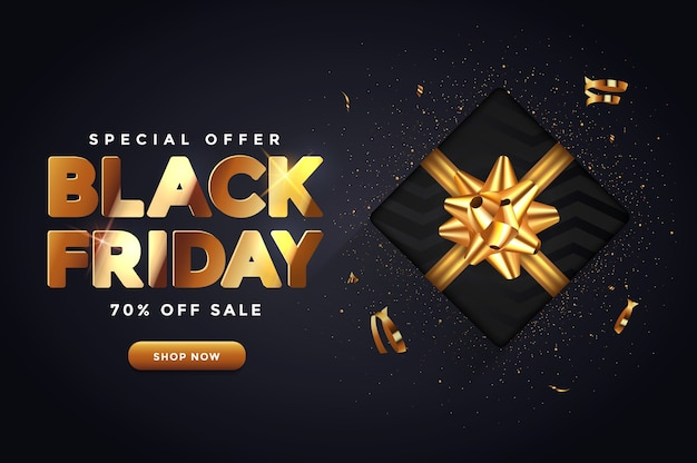 Черная пятница продажа баннер концепция