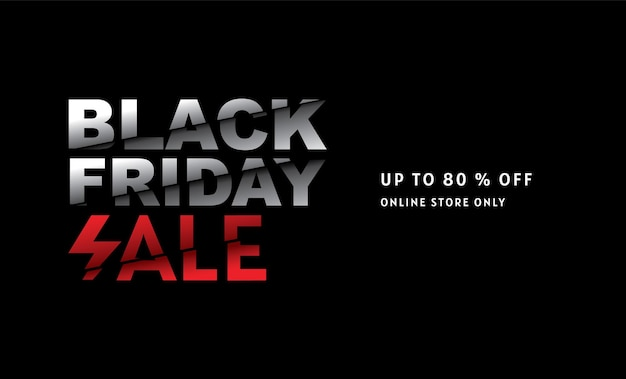 Black friday, sale, banner design template, limited time only, abstract background, vector.