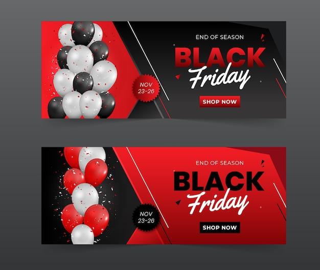 Черная пятница продажа баннеров шаблоны дизайна