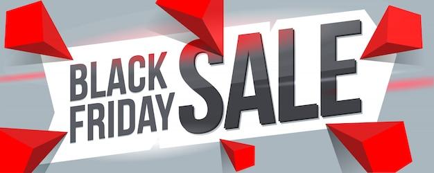 Black friday sale banner design.