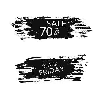 ショップやウェブページのブラックフライデーセールバナー、割引あり。エレガントでモダンな広告の背景テンプレート、マーケティングポスター、ショッピングバッグのデザイン。