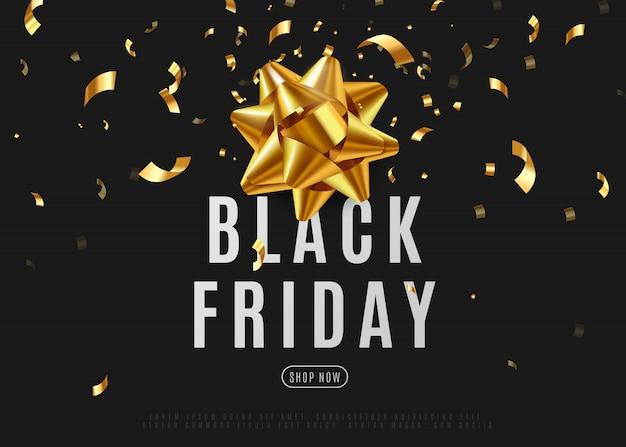 Черная пятница продажа баннер для продвижения в социальных сетях. иллюстрация