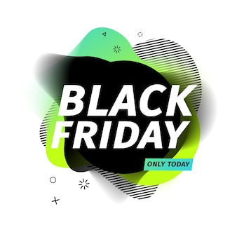 Black friday sale banner. geometric abstract style for discount offer.