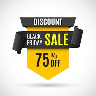 Black friday sale banner.  illustration.