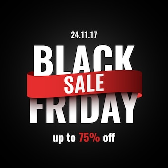 Black friday sale banner.  illustration.