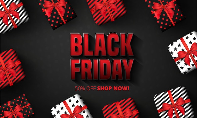 Black friday sale banner layout design template. banner and advertising poster design