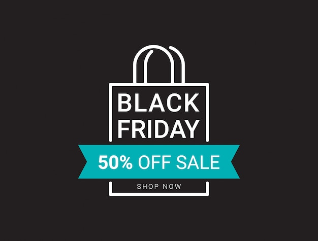 Black friday sale banner layout design template.