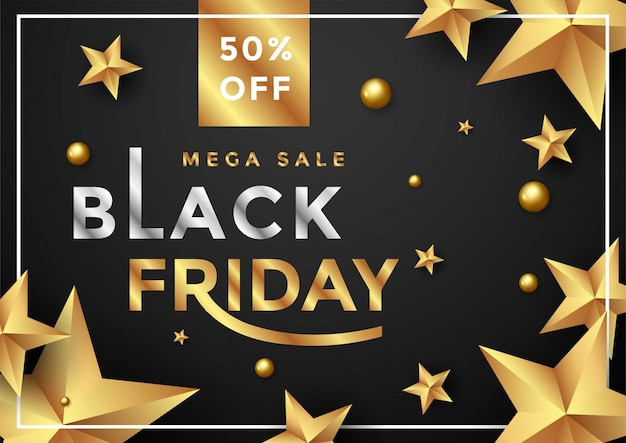Black friday sale banner layout template design