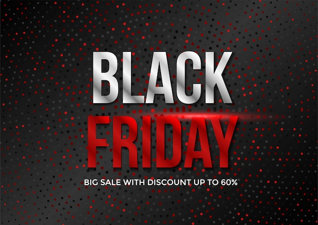 Black friday sale banner layout template