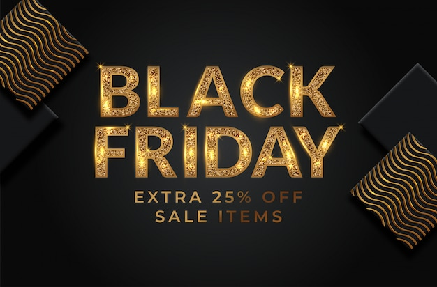 Black friday sale banner layout
