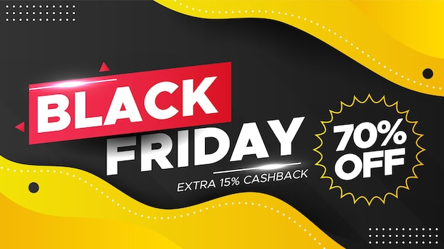 Black friday sale banner in modern style
