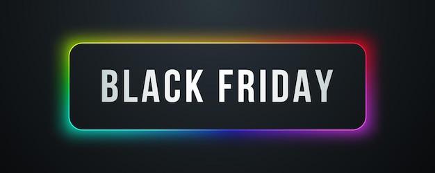 Black friday sale banner modern typography