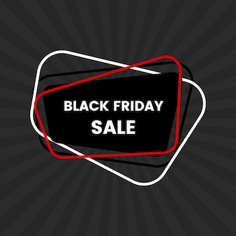 Черная пятница продажа баннер на черном фоне. векторная иллюстрация.