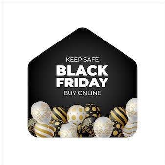 Black friday sale banner for online shop